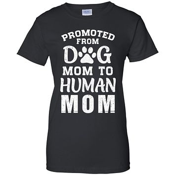 Promoted From Dog Mom To Human Mom Gifts