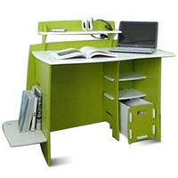 No Tools Assembly - Desk, Green and White