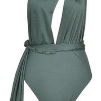 Tommy One Piece Multi-Way Swimsuit - Forest Green