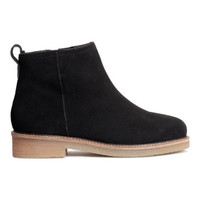H&M Suede Ankle Boots $79.99