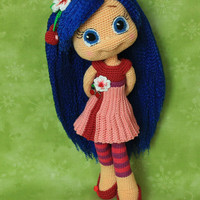 Cherry Jam - Handmade crochet doll