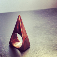Triangle Ring, Copper, Bronze, White Bronze