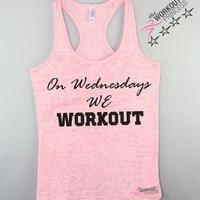 On Wednesdays We Workout Pink Tank Top