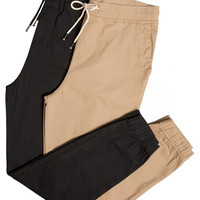 Stretch Twill Joggers - 2 Pack