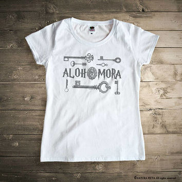 Alohomora T-shirt-Harry Potter t-shirt-Harry potter shirt-HP tank top-Hogwarts t-shirt-retro t-shirt-movie shirt-gift idea-by NATURAPICTA