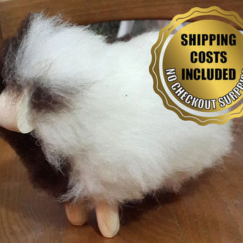 Sheepskin Sheep Ornament / Toy - 100% Genuine Naturel Kids Gift