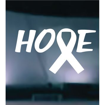 (2) TWO - Breast Cancer Hope Vinyl Graphic Decal