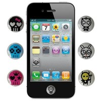 Skque Home Button Sticker for Apple iPhone iPad iPod Touch Cute Skulls