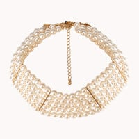 Iconic Faux Pearl Choker