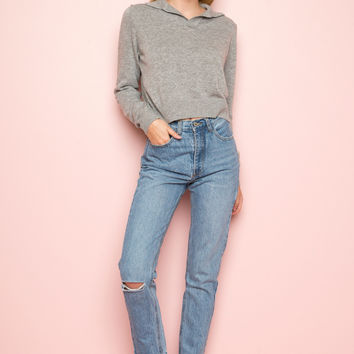 Jane Ripped Denim Pants - Bottoms - Clothing