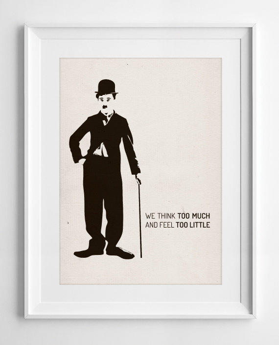 Movie Quotes Wall Art : Printable wall art charlie chaplin we from
