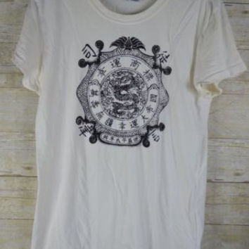 Lucky Brand Tee Size Large Cotton T-Shirt Top