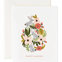 floral egg easter card