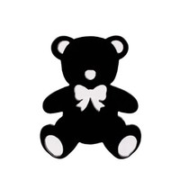 Decoration Parts for Smartphone (Teddy Bear/Black