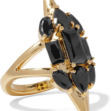 Sharp Edges gold-plated crystal ring | Noir Jewelry | US | THE OUTNET