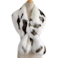 Faux Fur Shawl Collar Wrap