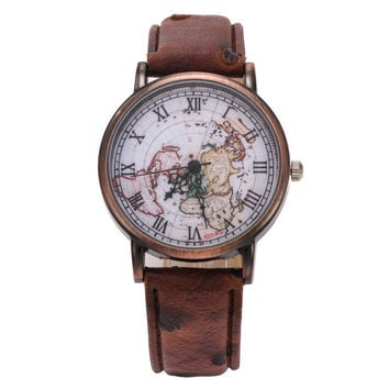 Retro World Map Watches