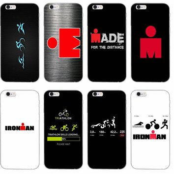 Ironman Triathlon Logo Silicone TPU Soft phone case For Apple iP c732b390e