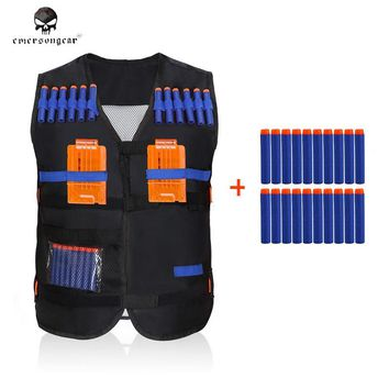 Kids Tactical Vest with 20 Pcs Soft Foam Darts for Nerf Toy Gun N-strike Kids Jacket Waistcoat (Not Including 2 Clips)