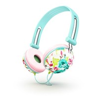 Ankit Fat Bass Noise Isolating Headphones - Pastel Mint Floral