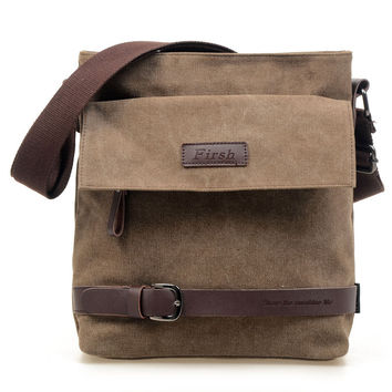 Simple Design Men Bags Shoulder Bags Canvas Messenger Bags [6580951815]