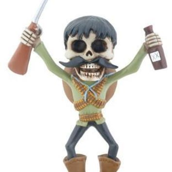 Big Head Bandito Day of the Dead Statue 5.75H