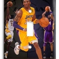 kobe bryant los angeles lakers nba 02v light switch cover  number 1