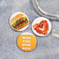 Bacon Heart 1.25 Inch Pin Back Button Badge