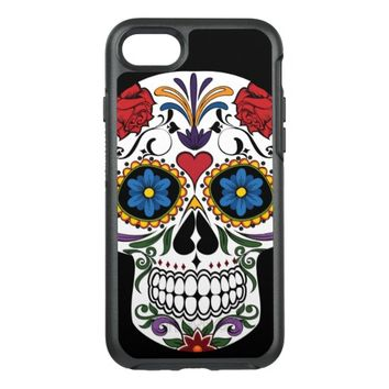 Colorful Sugar Skull OtterBox Symmetry iPhone 7 Case