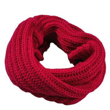 Knitted  Circle Wool Scarf Shawl Wrap Winter Warm Collar