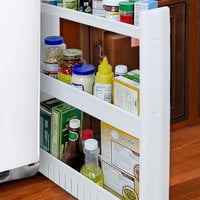 Large Slim Rolling Slide Out Kitchen, Bath, or Laundry Storage Cabinet Organizer