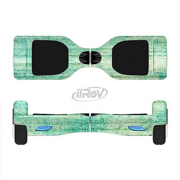 The Grungy Horizontal Green Lines Full-Body Skin Set for the Smart Drifting SuperCharged iiRov HoverBoard
