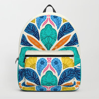 Bright Bohemian Mandala Backpack by noondaydesign
