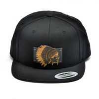 The Chief Wood Charm Snapback in Black