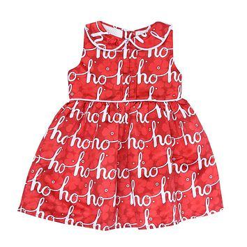 Girls Sleeveless Summer Dress Letter Printing Princess Dresses Children Peter Pan Collar Party Dress Girls Costume