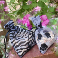Air Freshener Sachet, Paws & Stripes, Choice of Scents, Aromatherapy Room Car Air Freshener, Organza Bag Drawer Sachet, Animals Pets