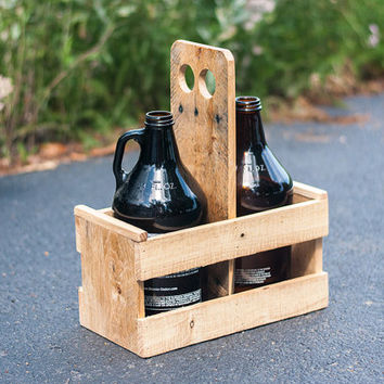 Beer Caddy - Beer Growler Carrier - Beer Growler - Growler Holder - Home Brewing - Beer Gift For Men - Gift For Him - Craft Beer Gift