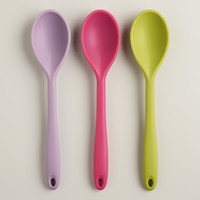 Spring Colors Silicone Spoons, Set of 3 - World Market