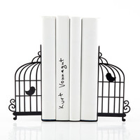 Bookends Birdcage - laser cut for precision these metal bookends will hold your favorite books
