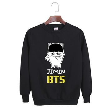 KPOP BTS Bangtan Boys Army  Korean Fashion   Boys 2017 Album Young Forever Q Cartoon Boneca Cotton Hoodies Pullovers Sweatshirts AT_89_10