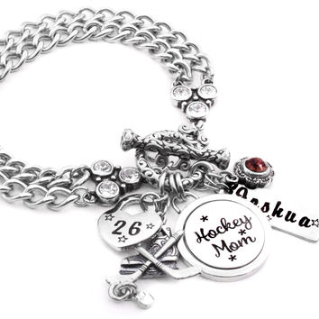 Ice Hockey Charm Bracelet