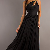 Long One Shoulder Prom Dress