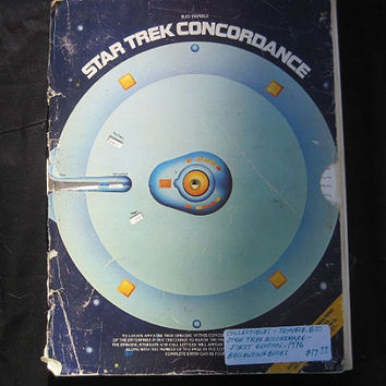 1976 Star Trek Concordance Episode and Terminology Guide 1st Edition Paperback