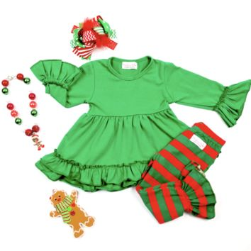 "RTS Green Ruffle ""Madeline Kate"" Set D14"