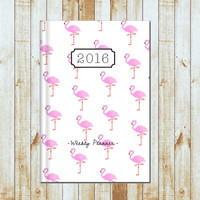 2016/2017 Weekly Planner- Flamingo
