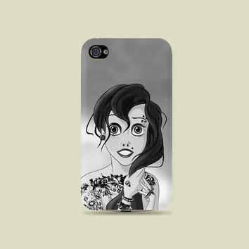 Super Dope Mermaid Plastic Hard Case - iphone 5 - iphone 4 - iphone 4s - Samsung S3 - Samsung S4 - Samsung Note 2