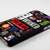 iPhone Case, iPhone 4/4s Case, iPhone 5 Case, Samsung Galaxy Case, Samsung S3, Samsung S4 -Broadway Musical Collage- Hard Plastic and Rubber
