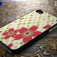 lv Smiley Flowers Phone Case Back Cover iPhone | Lealiveus.com