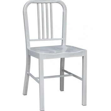 US Navy Dining Chair - Silver - Reproduction |