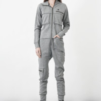 Distance Jumpsuit in Grey Melange